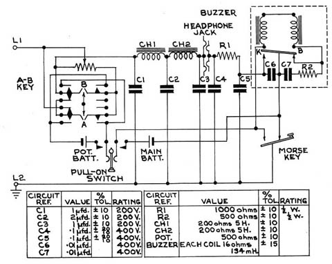 Fullerphone Mk.IV circuit diagram.