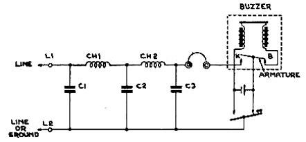 Fullerphone simplified circuit diagram.